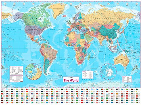 Collins world wall paper map amazon collins maps collins world wall paper map amazon collins maps 9780008211585 books gumiabroncs Image collections