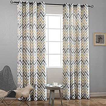 Amazon Com Intelligent Design Yellow In Grey Chevron