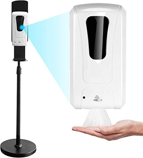 Amazon Com Kecop Hand Sanitizer Stand With 1000ml Automatic Touchless Universal Soap Dispenser Stainless Steel Floor Stand Station Kit 35 4 56 Inches Adjustable Mist Spray Machine 1409 Home Kitchen