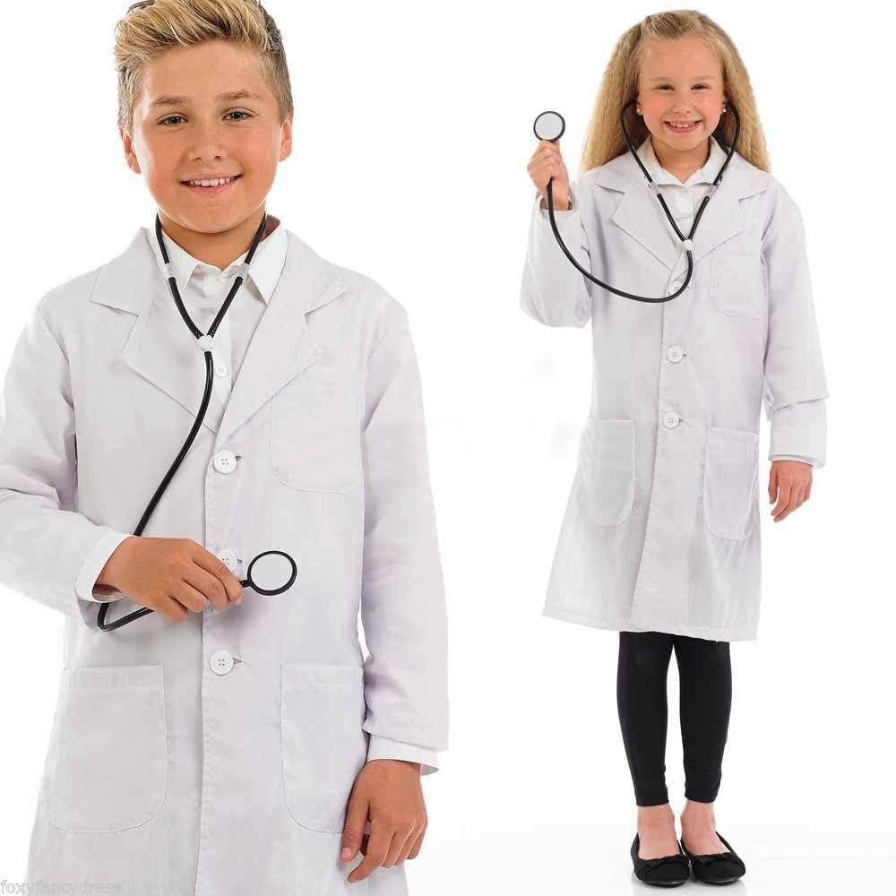 Bata blanca infantil para edades de 10, 12, 14, 16 y 17 años, para niña o niño, para clases de física o química, 100 % algodón: Amazon.es: Ropa y accesorios