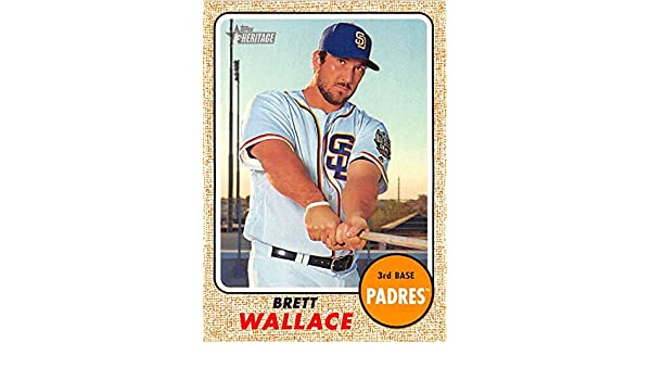 31b281def45 Amazon.com  2017 Topps Heritage  163 Brett Wallace San Diego Padres  Baseball Card  Collectibles   Fine Art