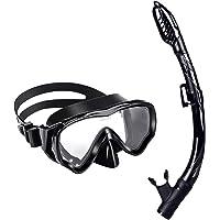 U PHITNIS Kids Snorkel Set - Dry Top Snorkel Mask with Big Eyes for Childs, Boys, Girls - Anti-Fog and Anti-Leak…