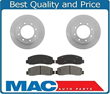 Front And Rear Brake Rotors /& Metallic Pads For 2005 2006 Ford F250 F350 4X4 4WD