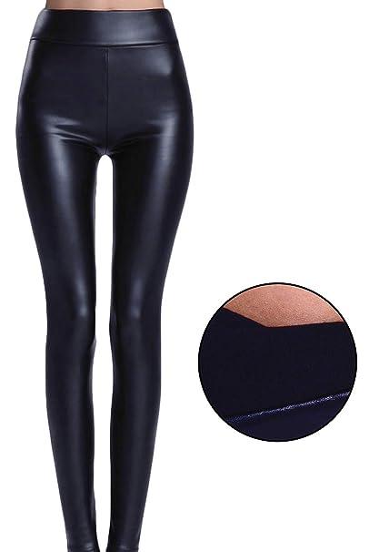 abd70bc158507 FITTOO Mujeres PU Leggins Cuero Brillante Pantalón Elásticos Pantalones  para Mujer  Amazon.es  Ropa y accesorios