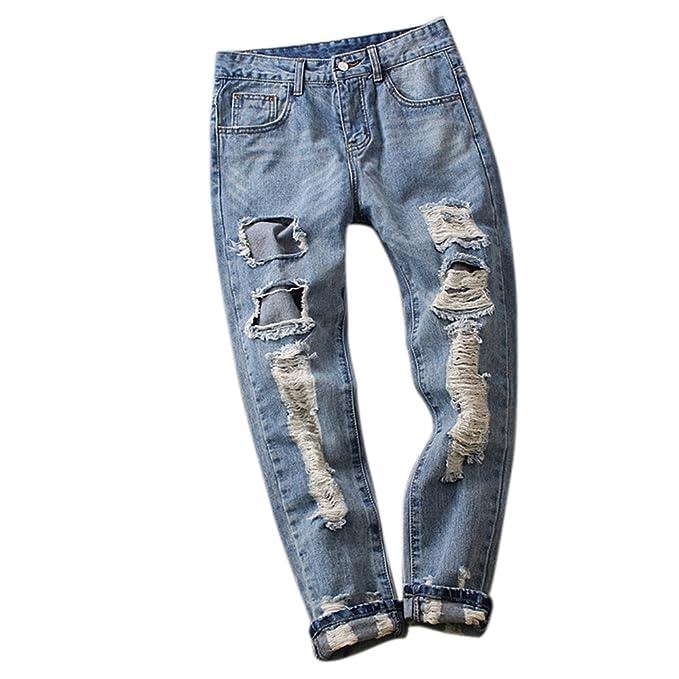 cf8e9a2d1f hellomiko Pantalones Vaqueros Flojos y cómodos para Mujer