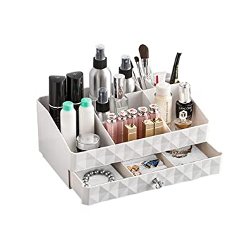 Organizadores de belleza,Caja de organizador de belleza Caja de maquillaje para cajones Organizador de maquillaje Cajas de maquillaje cosmético Cajones de ...