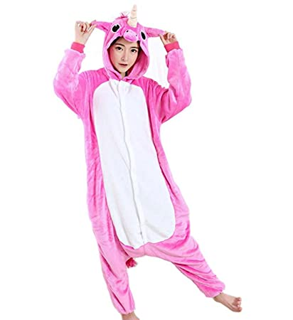 Colorfulworld Unicornio Disfraces Animales Pijamas Ropa Trajes Disfraz Cosplay Pyjamas (XL, Rose)