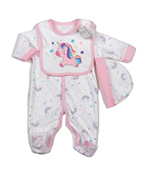 ef9bdfe8b20f4 Bébé Fille Rainbows et licorne layette – Vêtements Ensemble cadeau (6–9 mois )