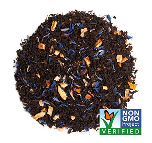 ds: Blue Lady Black Flavor (Citrus & Hibiscus), As Much Caffeine As Coffee, (4 oz Loose Leaf) (50 Servings) ()
