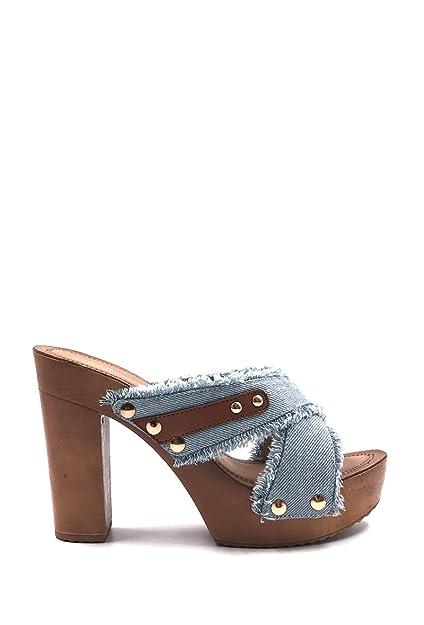 4851ea7af9739 Chaussure Femme Mode Sandale Sabot Jeans à Talon.  Amazon.fr  Chaussures et  Sacs