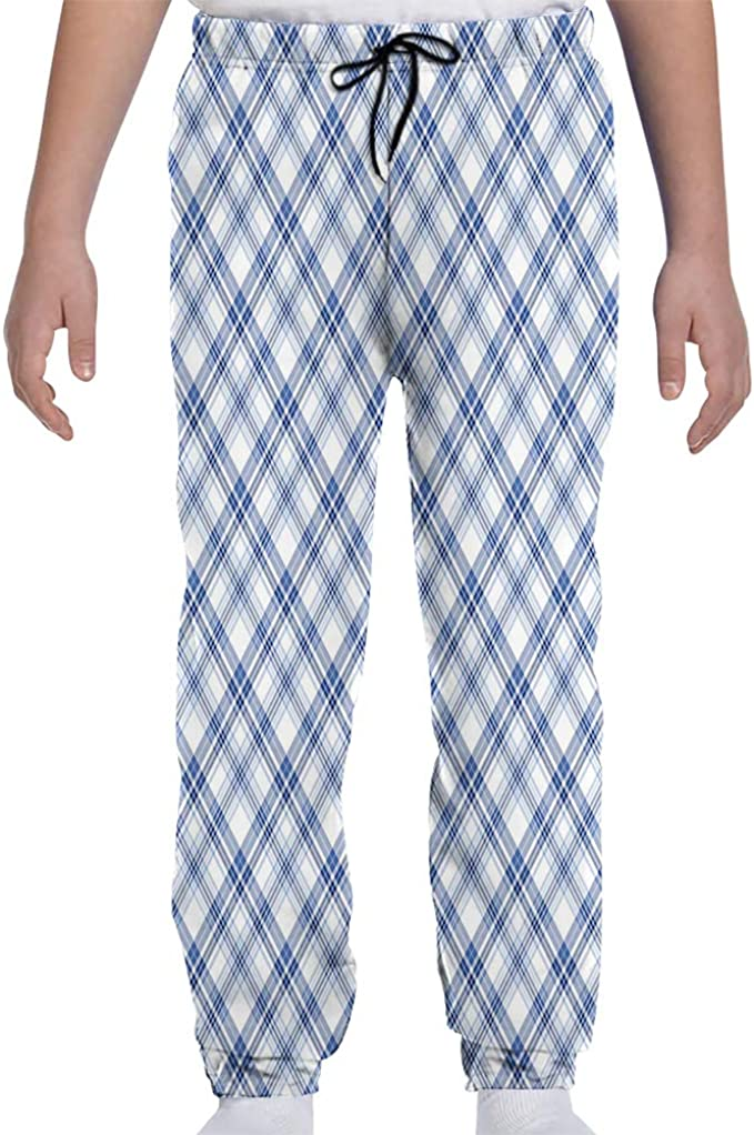 Amazon Com Gultmee Youth Joggers Sweatpants Arrangement Of Overlapped Diagonal Lines Fashion Print S Xl Clothing