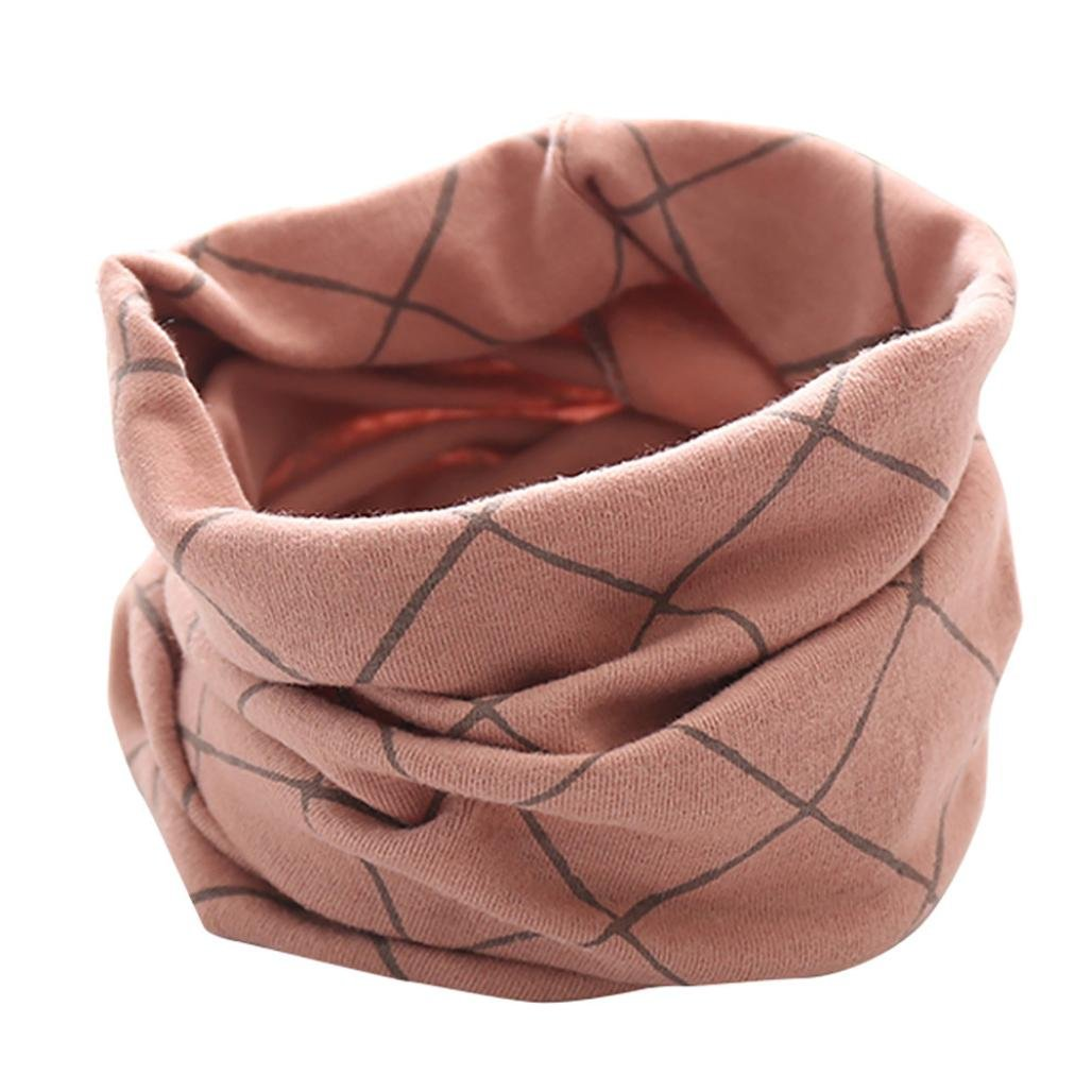 Pink 02# Changeshopping Autumn Winter Boys Girls Collar Baby Scarf Cotton O Ring Neck Scarves