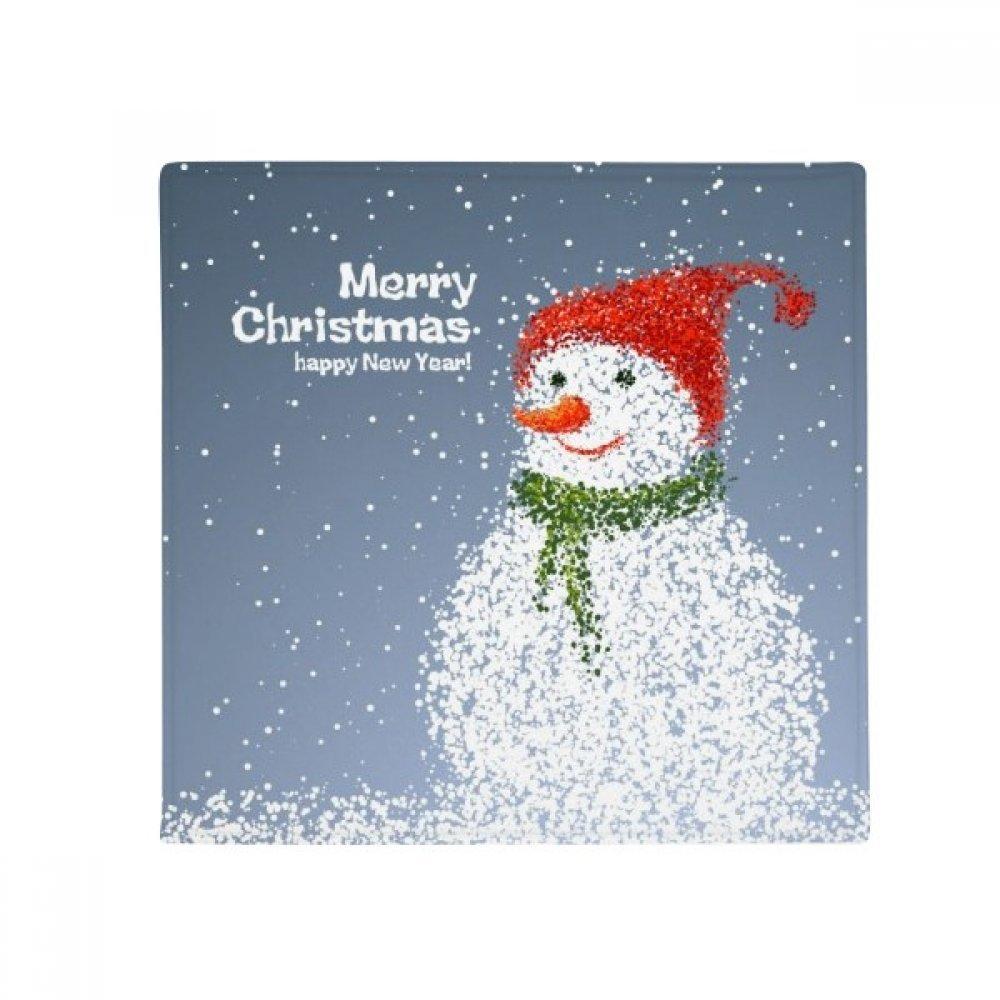DIYthinker Merry Christmas Snowman Festival Anti-Slip Floor Pet Mat Square Home Kitchen Door 80Cm Gift