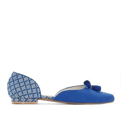 Castaluna Frau Ledersandalen Fur Breite Fusse, Gr. 3845 Gre 43 Blau La Redoute