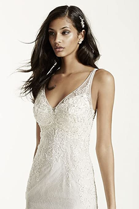 Lace Sheath Gown With V Neckline Style SWG675 At Amazon Womens Clothing Store