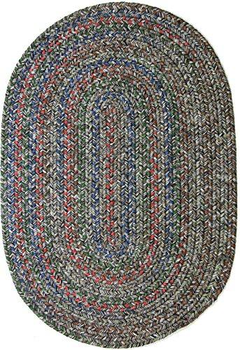 Sonya Indoor/Outdoor Oval Reversible Braided Rug, 2 by 4-Fee