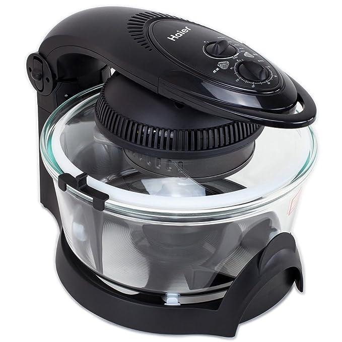 Haier - Freidora eléctrica multifunción - Sin aceite, menos grasa - Cocer, asar, tostar, freír carne y verdura - Bajo en calorías - Más ecológico - 1.450 W, ...
