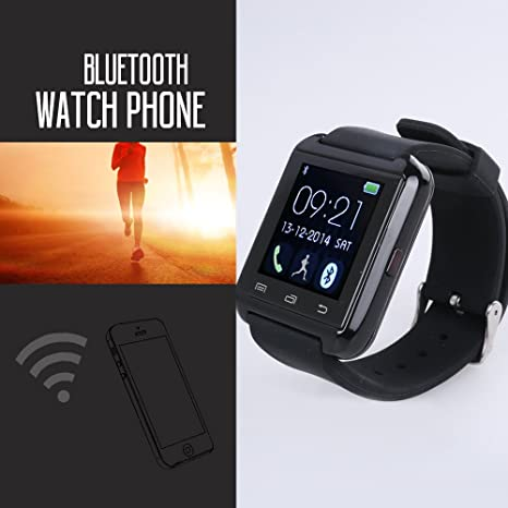 Flylinktech®U8 Plus Whatsapp Smartwatch Reloj Inteligente Táctil Compatible con Android e iOS Bluetooth 4.0