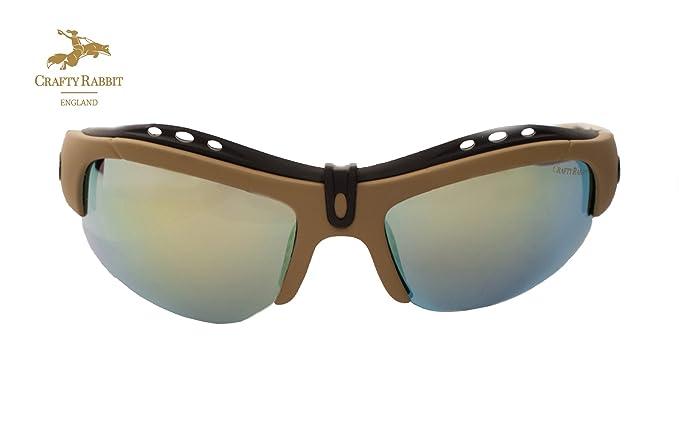 Polarizadas pesca gafas con 5 lentes intercambiables by Crafty conejo Inglaterra: Amazon.es: Deportes y aire libre