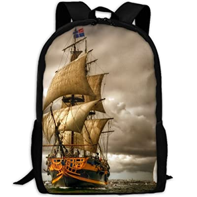 ZQBAAD Awesome Sailing Ship Casual Luxury Print Men And Women's Travel Knapsack