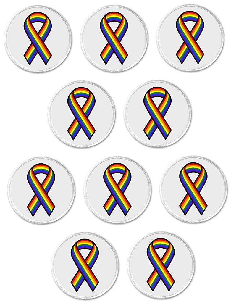 Amazon.com: QTY 10 Rainbow Awareness Ribbon 3
