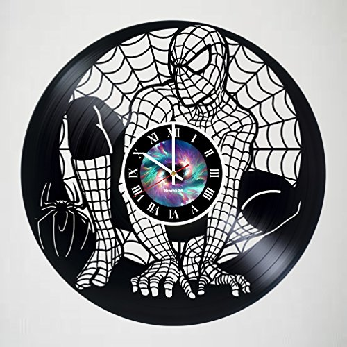 SPIDERMAN Incredible Vinyl Record Vintage Wall Clock - COMICS Art gift wall decor Unique Living Kitchen Kids Room Wall Decor - Gift idea for children, teens, adults - LEAVE A FEEDBACK AND WIN A CLOCK