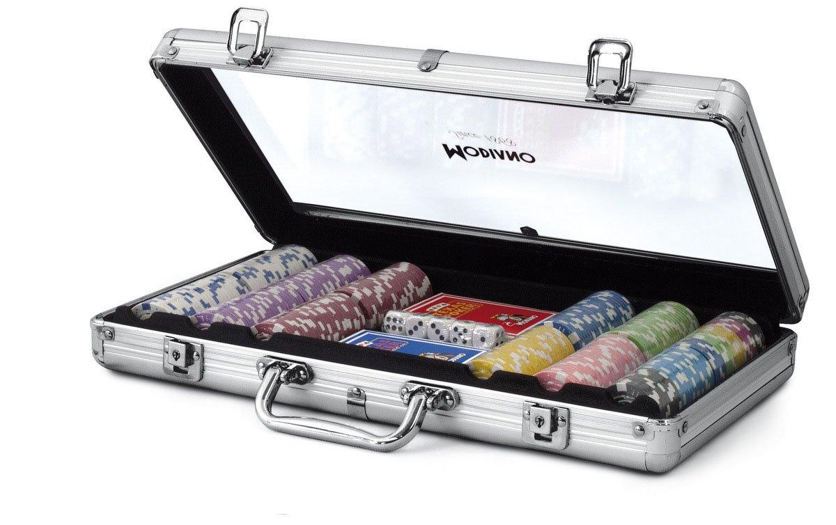 /300/Chips 14/g Modiano Transparent Aluminium case/