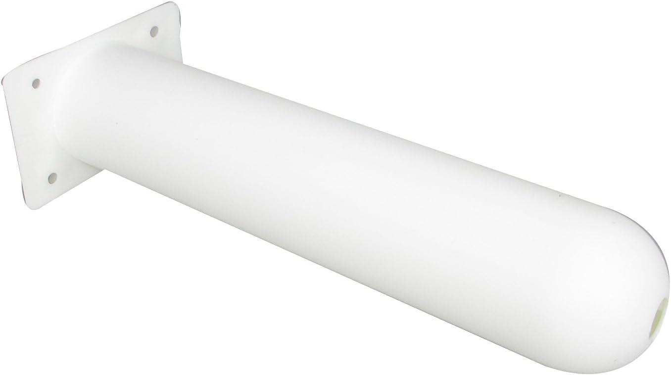 Pactrade Marine 2PCS Boat Kayak White Plastic Rod Holder Straight Square Plate