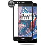 OnePlus 3 (Nero) Pellicola Protettiva 3D Curvata E-Hamii Protettore Copertura Completa Protezione dello in Vetro Temperato 9H Anti-graffio Protettivo HD Schermo Intero