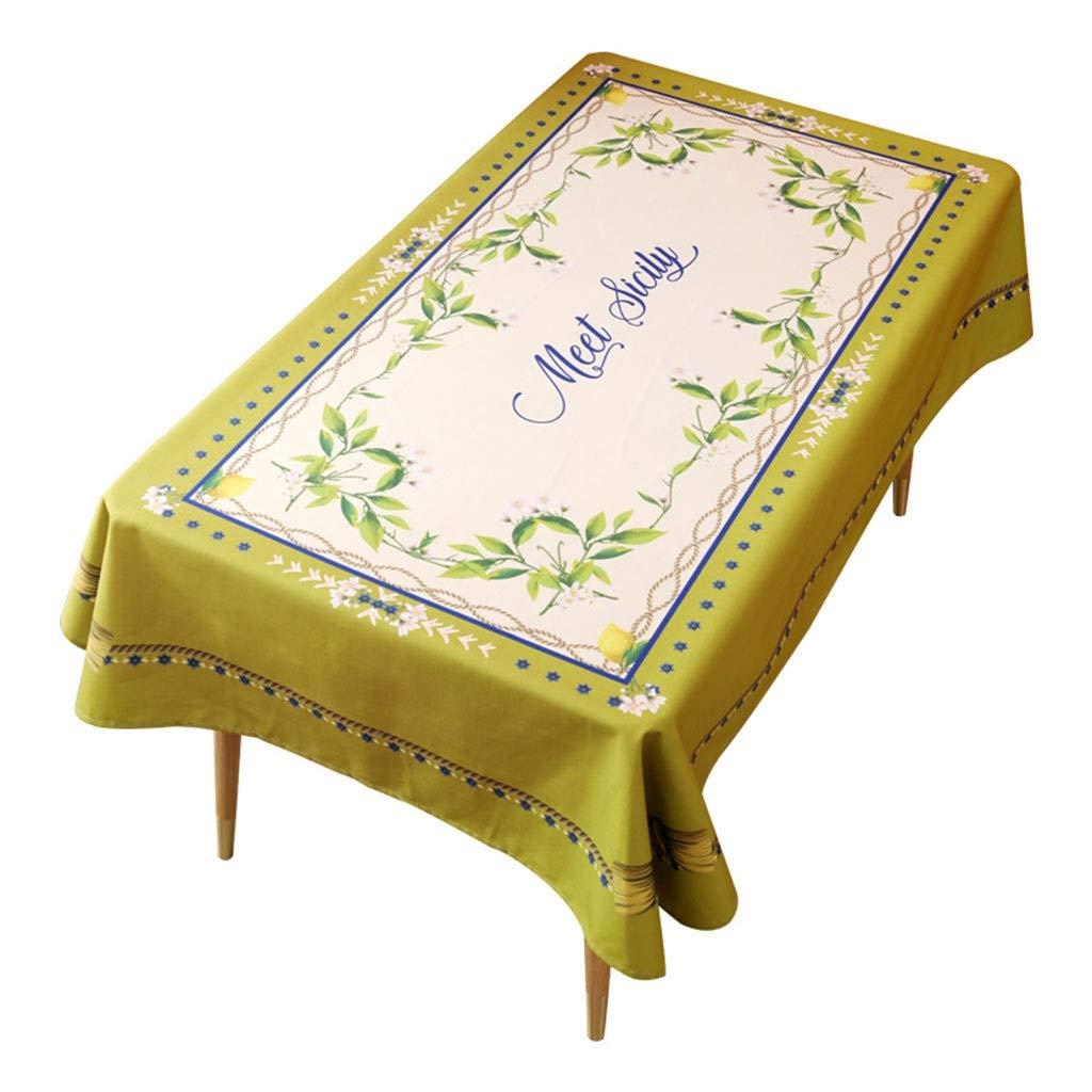A 140140cm Nappes Mélange Nappe - Pays Pastoral Nappe Table Ronde Tapis Rectangulaire Imperméable (Couleur   B, Taille   140  220cm)