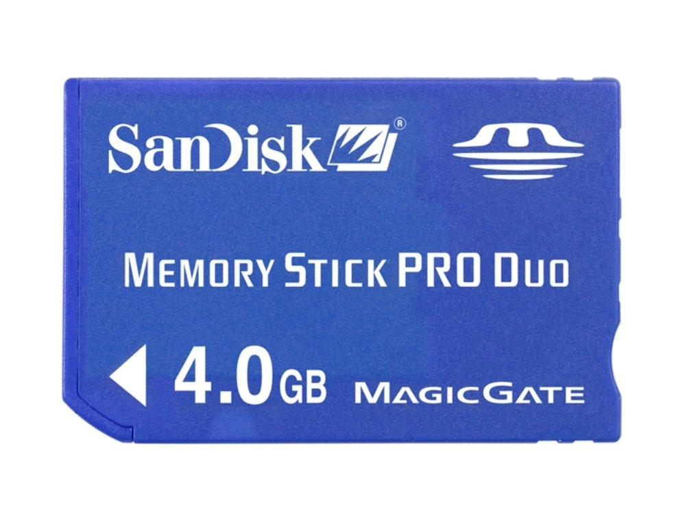 SanDisk 4GB Memory Stick PRO Duo Flash Memory Card SDMSPD-4096-B35- Retail packaging