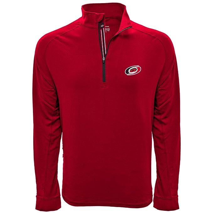 NHL Mens Peak Banner Stripe Quarter Zip Mid-Layer Jacket