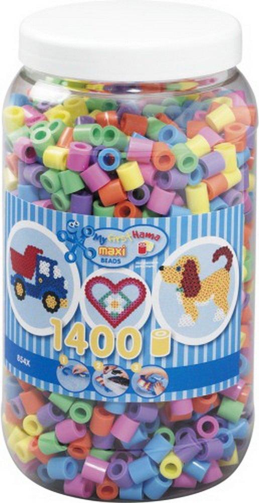 HAMA Maxi Perlen Pastell Dose, 1.400 Stück, 1 Set B00LUJC3ZU | Bekannt für seine gute Qualität