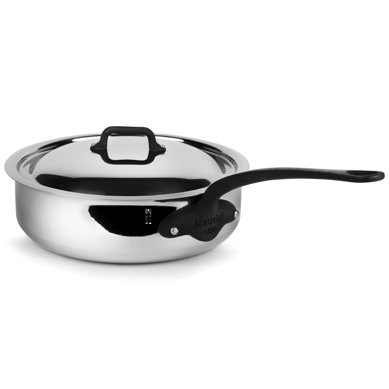 Mauviel M'Cook Pro 5-ply Stainless Steel 3.4-quart Saute Pan with Lid