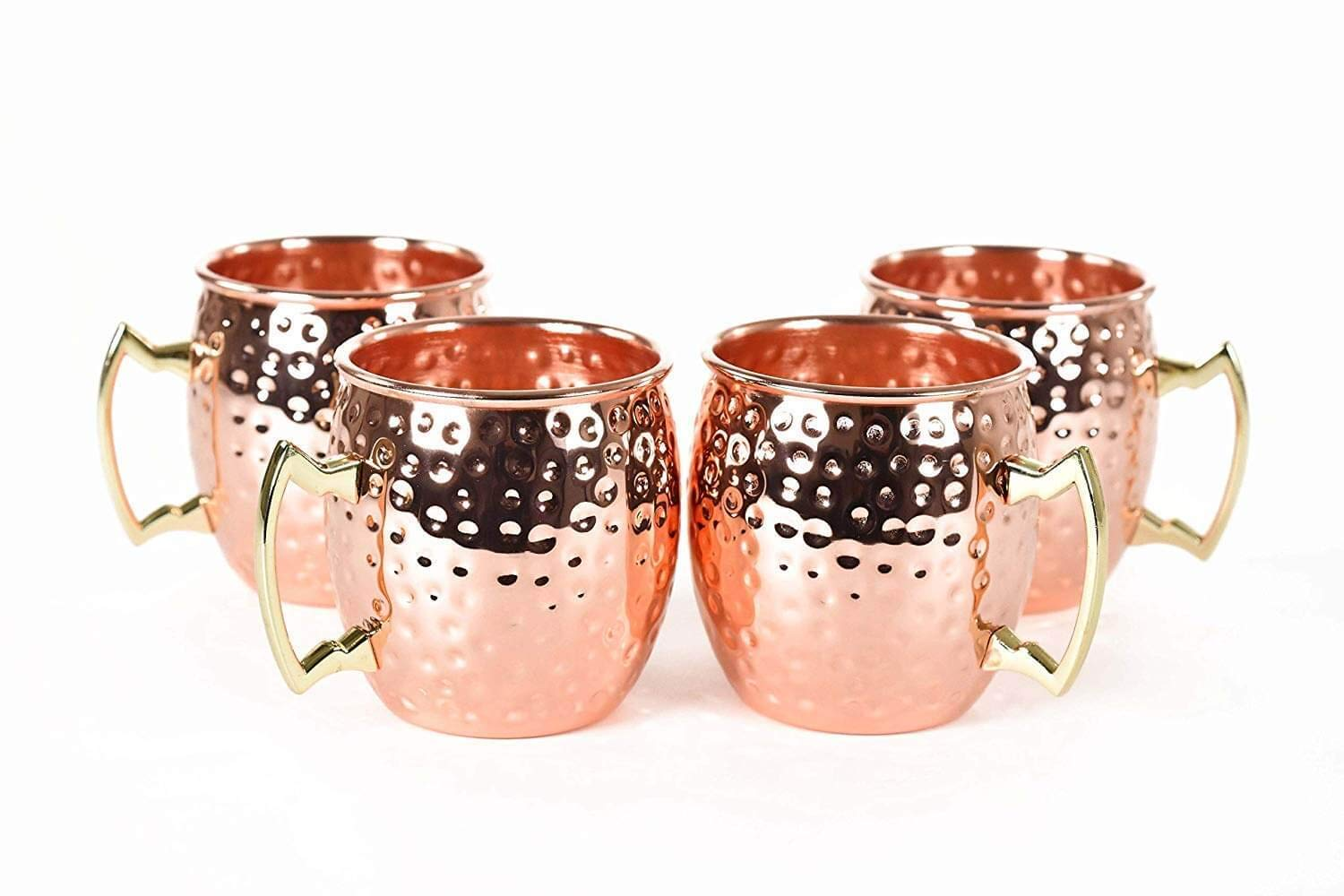 RV Hammered Copper Moscow Mule Mug with Brass Handle, 18oz by OLIA DESIGN