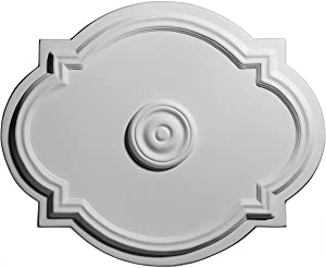 """Ekena Millwork CM21WA Waltz Ceiling Medallion, 21 1/4""""W x 17 3/8""""H x 1""""P (Fits Canopies up to 4 1/2""""), Factory Primed"""
