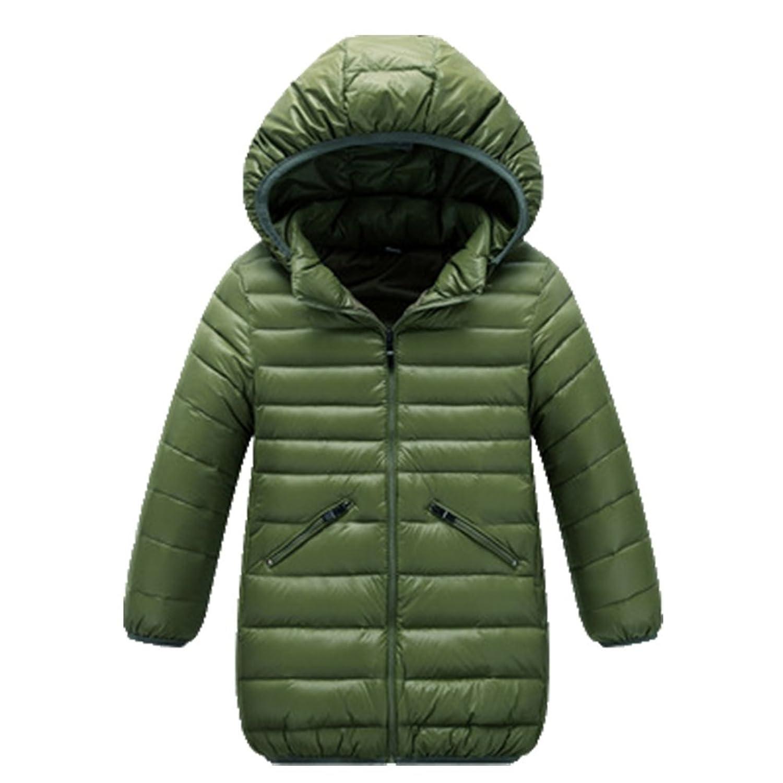 OHmais Unisexe enfant garçon fille veste d'hiver manteau doudoune à capuche