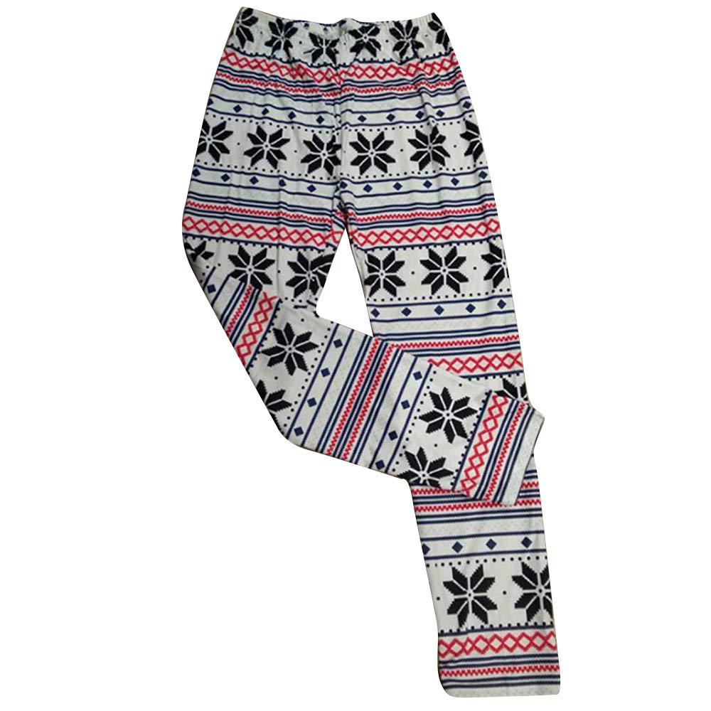 Decha Femme Legging de No/ël Imprim/é Stretch Collant Slim Yoga Fitness Jogger Taille Haute /Élastique Pants Casual Pantalon de Sport Danse Push Up