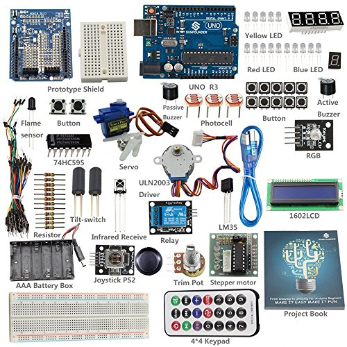 Including Assembly (SunFounder Starter Learning Kit for Arduino Beginner, from Knowing to Utilizing - Including 82 Page Instructions)