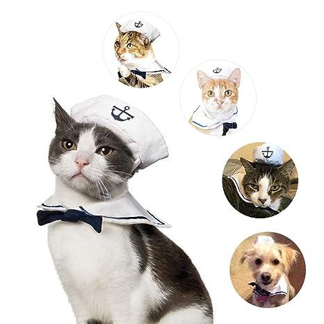 Yundxi - Disfraz de Cachorro de Perro, Gato o Marinero con Capucha Azul Marino