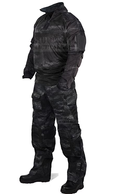 539a5d00cbfda ZAPT Tactical Military Uniform Paintball Airsoft Hunting Army Camo Apparel  Shirt and Pants with Elbow Knee
