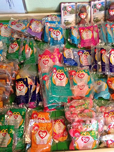 Lot of 12 Assorted Ty Teenie Beanie Babies Collectible Plush Toys new in bags Includes Many Assorted Animals  All 23 inches Long Great for Gift Baskets and Birthdays Party Favors