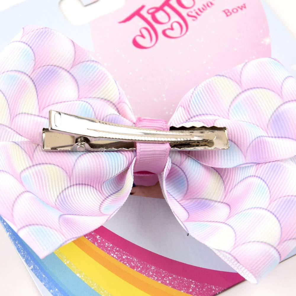 18Pcs 5IN//8IN Jojo Bows Alligator Clips Ribbon Hair Bows Girls Hair Accessories
