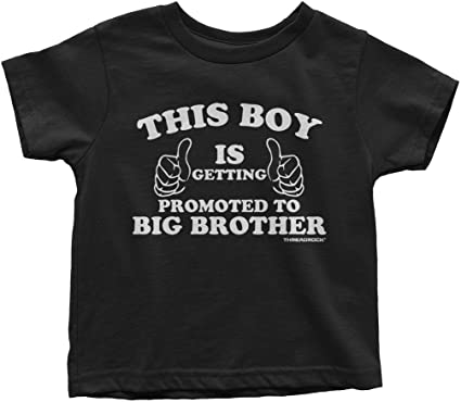 Threadrock Little Boys This Boy is Getting Promoted to Big Brother T-Shirt