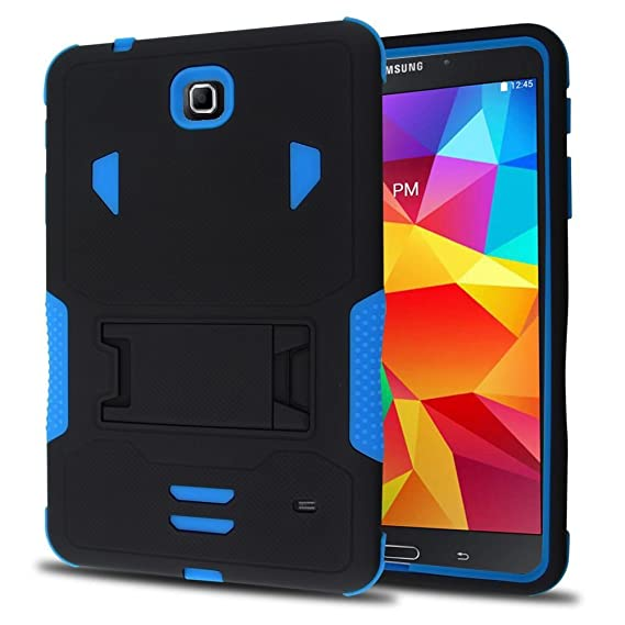 super popular c15af 46eaa Galaxy Tab 4 Case, kUTECK Heavy Duty Rugged Impact Dual Layer Hybrid Case  Cover with Build in Kickstand Protective Case Cover for Samsung Galaxy Tab  4 ...