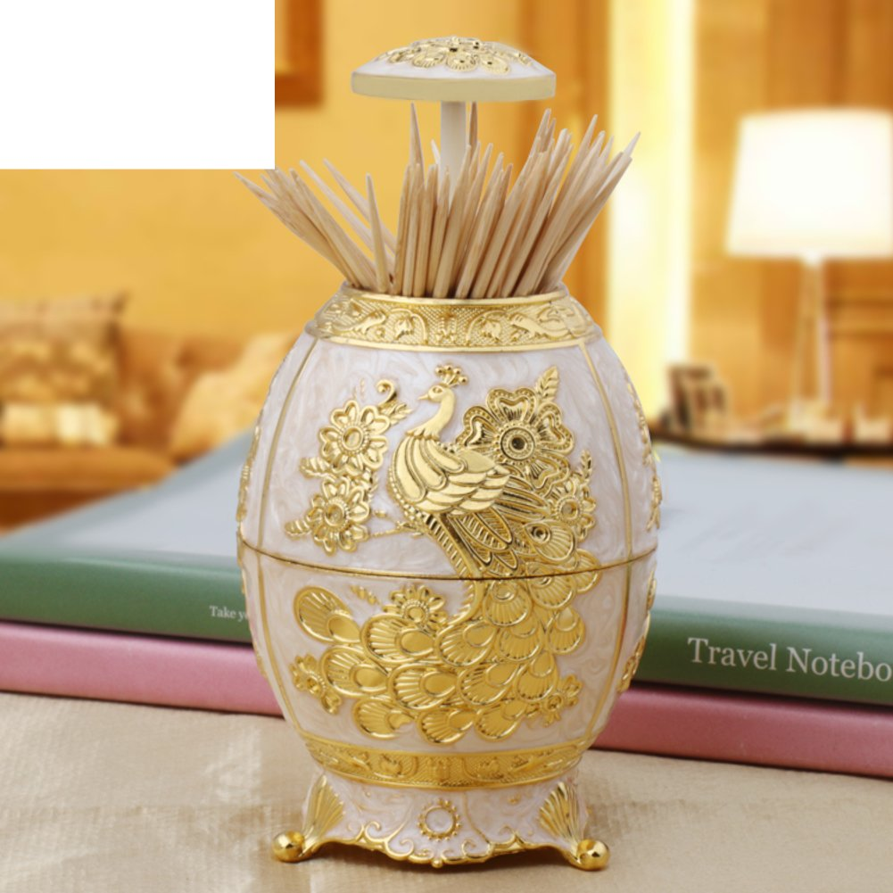 Wang's portable toothpick box Fashion creative home hotel supplies Auto-style egg-shaped fancy toothpick by Wang's
