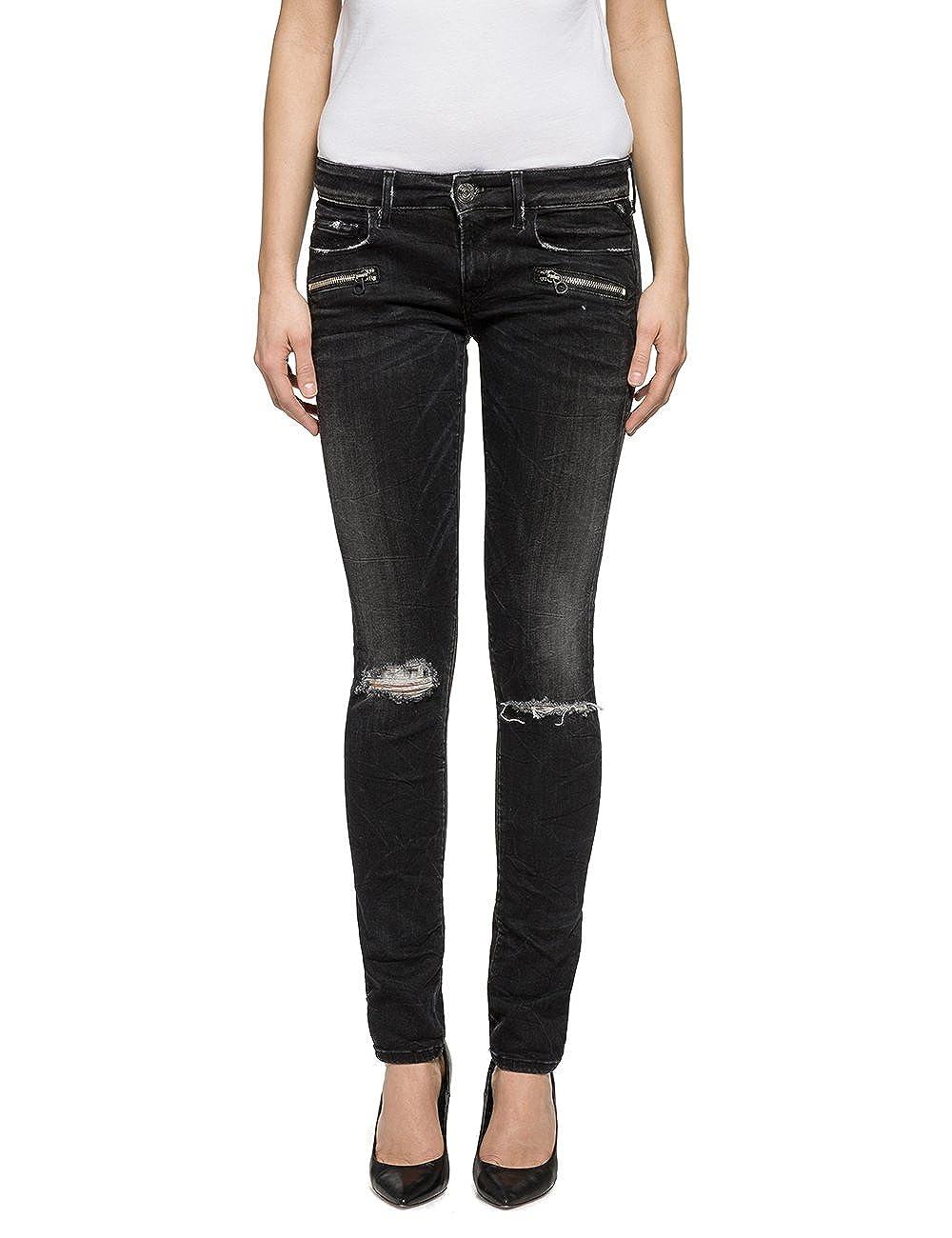 TALLA 27W / 34L. REPLAY Brigidot Jeans para Mujer