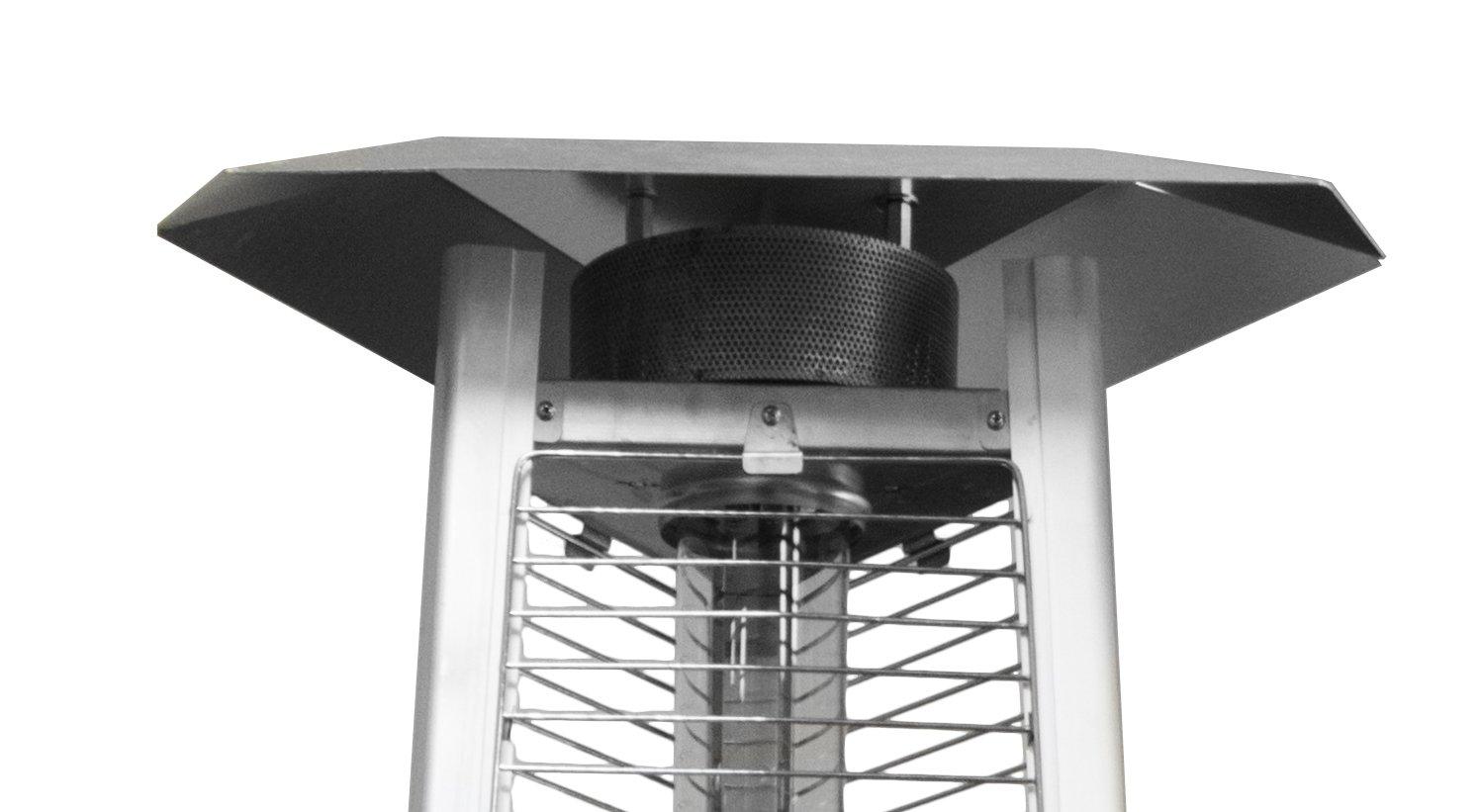 Hiland Glass Tube Heat Shield, 22'' Triangle
