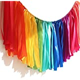 PANTIPINKY Handmade Party Garland Hanging Decorations Preassembled Colorful Ribbon Tassel Garland Fabric Shabby Chic…