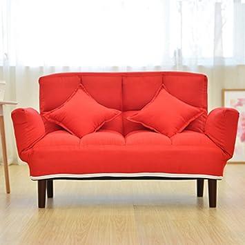 Folding Chair LVZAIXI Erwachsene Multifunktions Klappstuhl Mittagspause Liege  Wohnzimmer Siesta Bett (Farbe : Red)